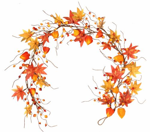 Autumnal Berry and Foliage Garland