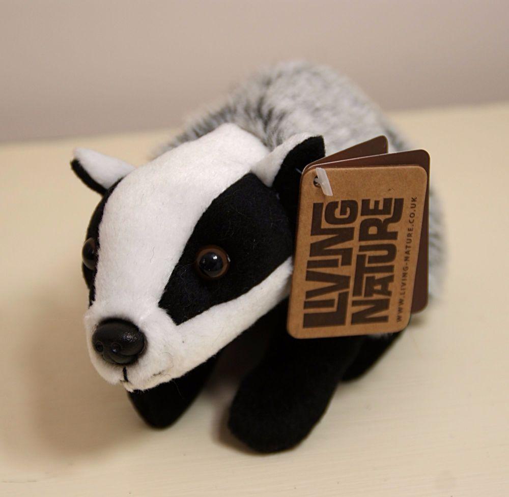 Living Nature Soft Toy Badger