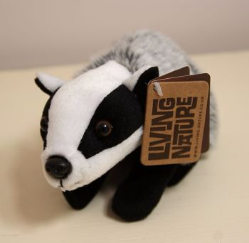 Living Nature Soft Toy Badger