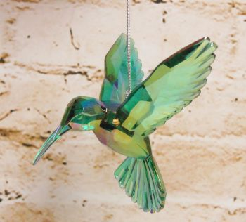 Gisela Graham Acrylic Hummingbird Decoration