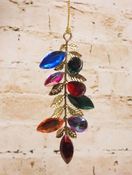 Gisela Graham Multicolour Jewel Drop Decoration