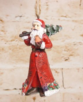 Gisela Graham Traditional Resin Santa Hanging Decoration