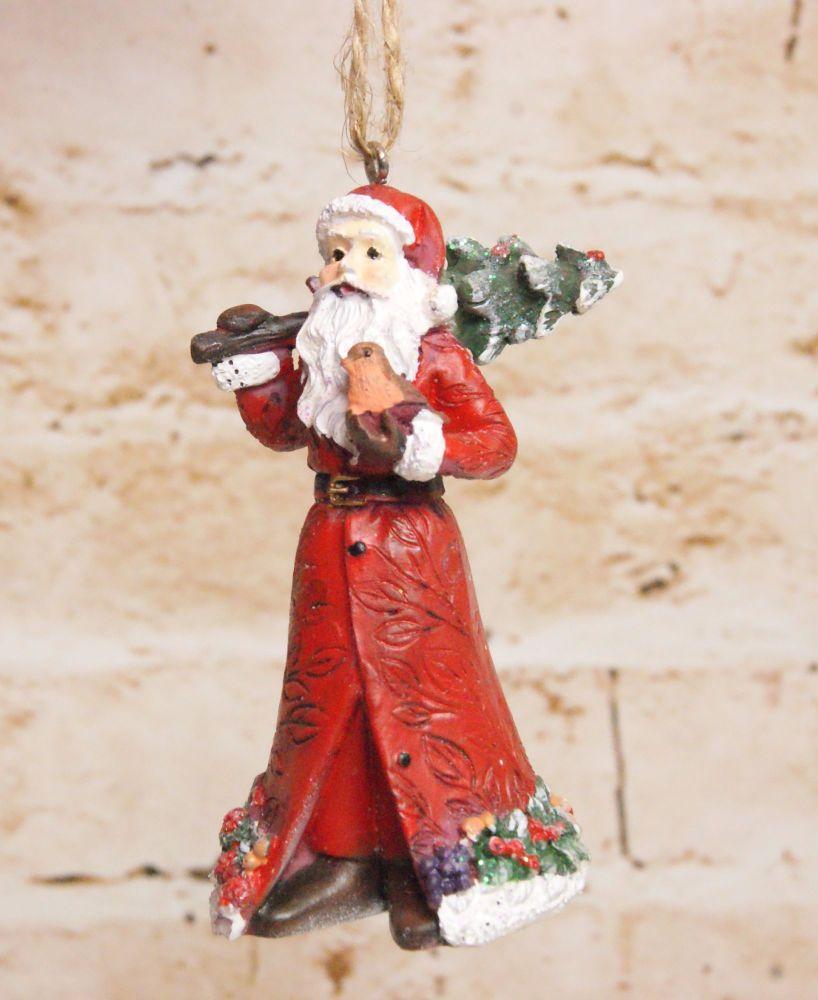 Traditional Resin Santa HangingDecoration