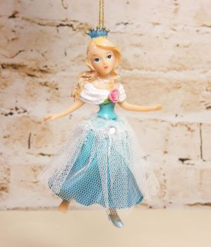 Gisela Graham Resin Cinderella Hanging Decoration - Fairytale Collection