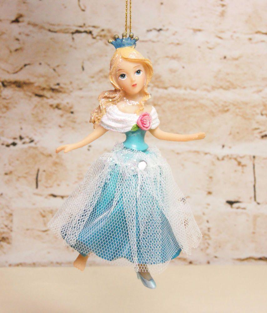 Gisela Graham Resin Cinderella Hanging Decoration - Fairytale Collection