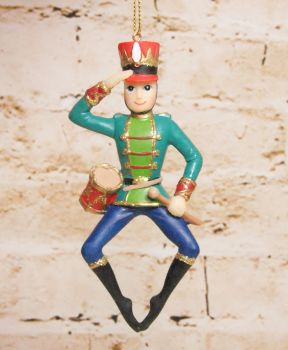 Gisela Graham Resin Soldier Decoration - The Nutcracker Collection