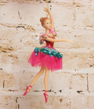 Gisela Graham Resin Sugar Plum Fairy Hanging Decoration - The Nutcracker Collection
