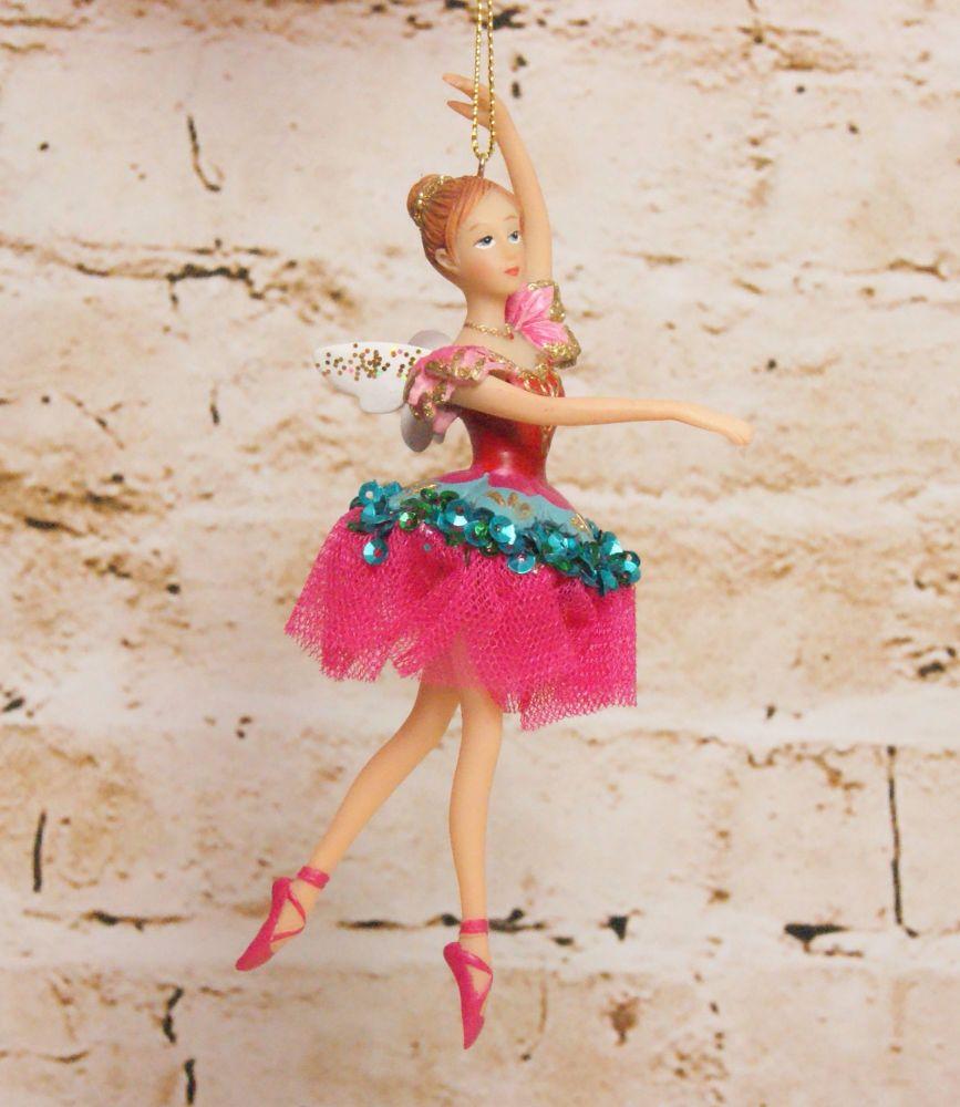 Gisela Graham Resin Sugar Plum Fairy Hanging Decoration - The Nutcracker Co