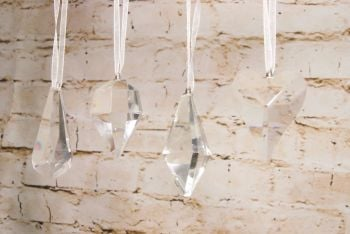 Gisela Graham Glass Droplet Decorations - Set of 4
