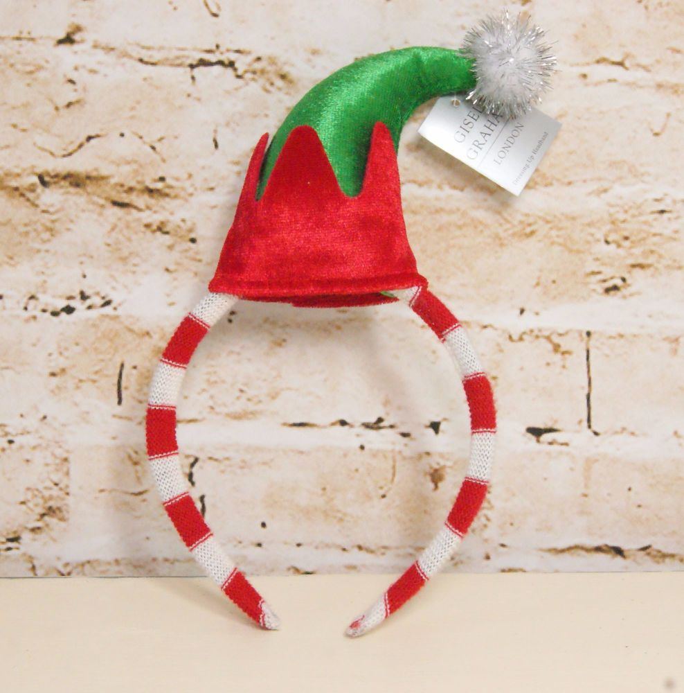 Gisela Graham Plush Elf Hat Headband