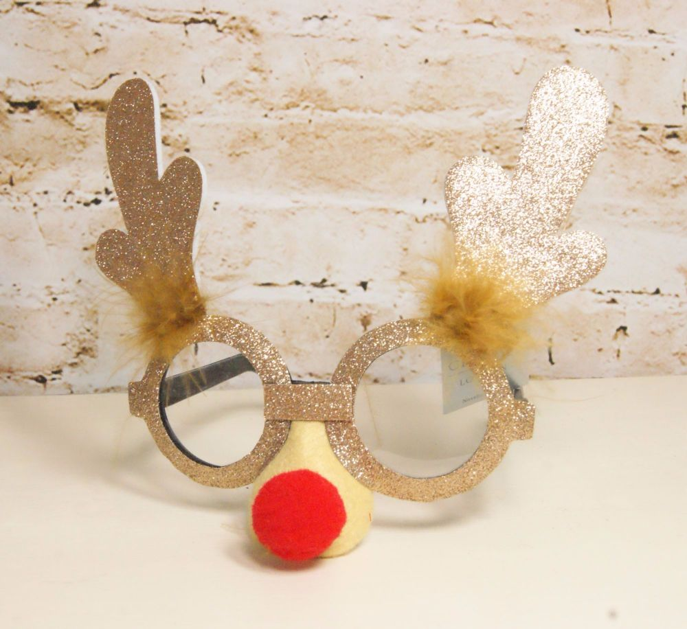 Gisela Graham Rudolph with Antler Spectacles.