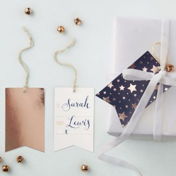 Ginger Ray Navy and Rose Gold Foiled Gift Tags - Set of 8