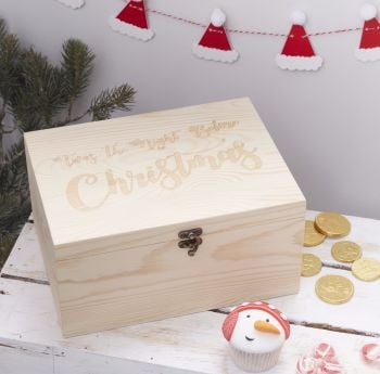Ginger Ray Wooden Christmas Eve Box
