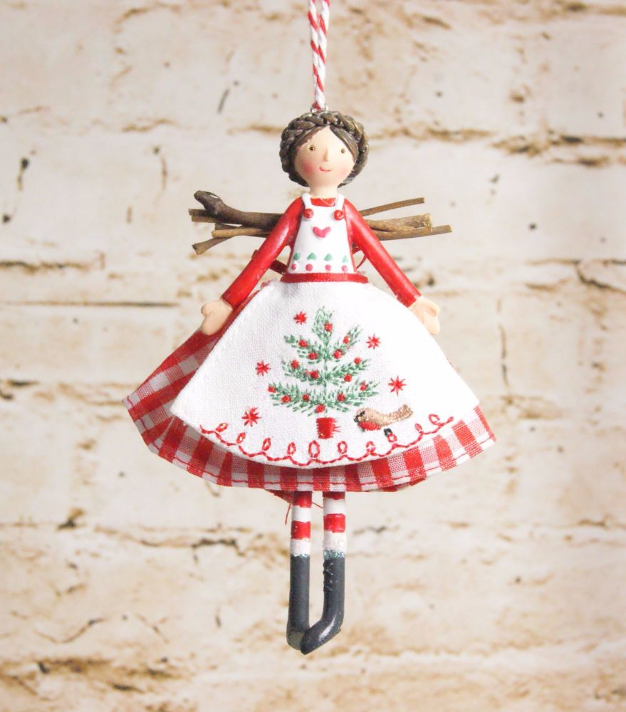 Gisela Graham Nordic Resin and Fabric Fairy