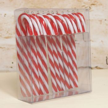 Gisela Graham Acrylic Candy Cane Hanging Decoration - Box of 12