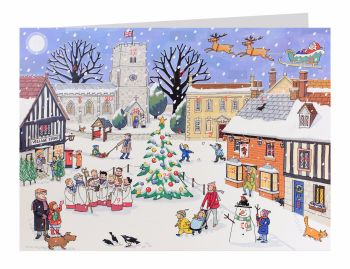 Alison Gardiner Christmas in the Village Advent Calendar Card