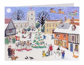 Alison Gardiner Christmas in the Village Advent Calendar Card