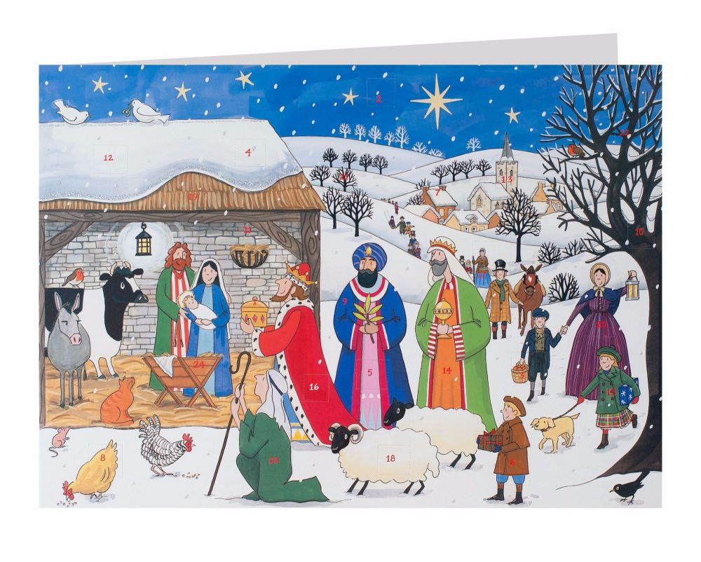 Alison Gardner Jesus is Born Advent Calendar Card