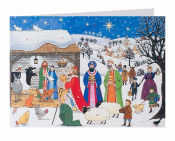 Alison Gardiner Jesus is Born Advent Calendar Card