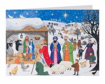 Alison Gardiner Jesus is Born Advent Calendar Card