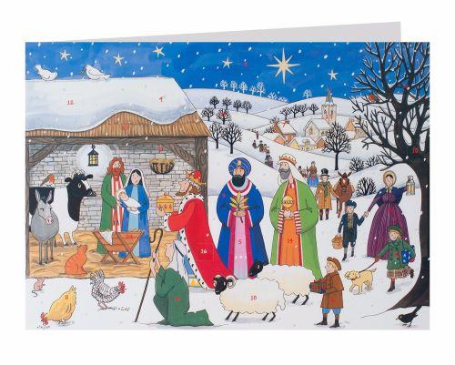 Alison Gardner Jesus is Born Advent Calendar Card