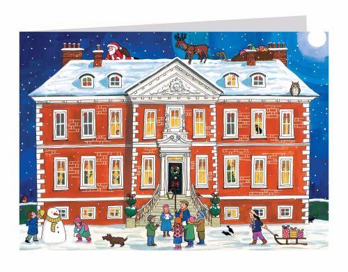 Alison Gardener Country House Christmas Advent Calendar Card