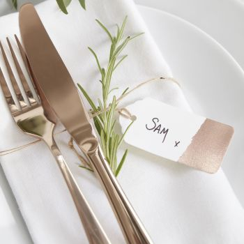 Ginger Ray Rose Gold Place Setting Tags - Set of 10