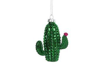 Gisela Graham Glass Cactus Decoration