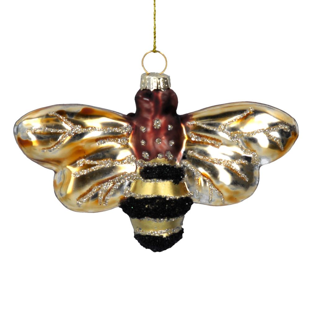 Painted Glass Bumble Bee