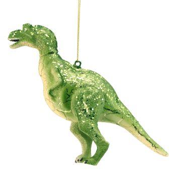 Gisela Graham Glass Dinosaur Decoration