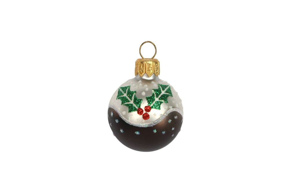 Painted Mini Pudding Glass Decoration