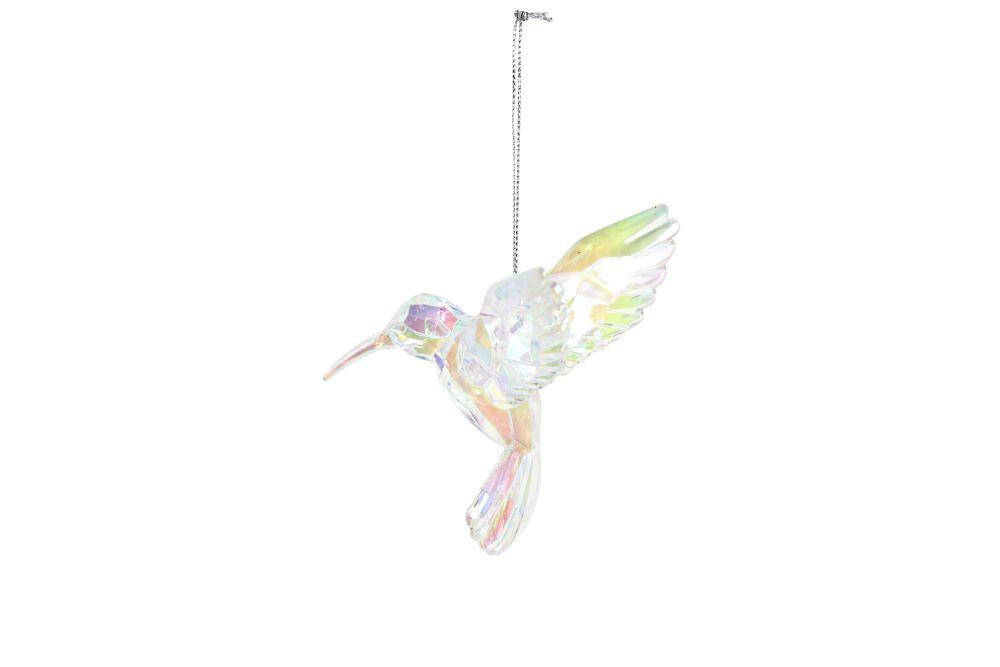 Acrylic Hummingbird Decoration -Iridescent Rainbow