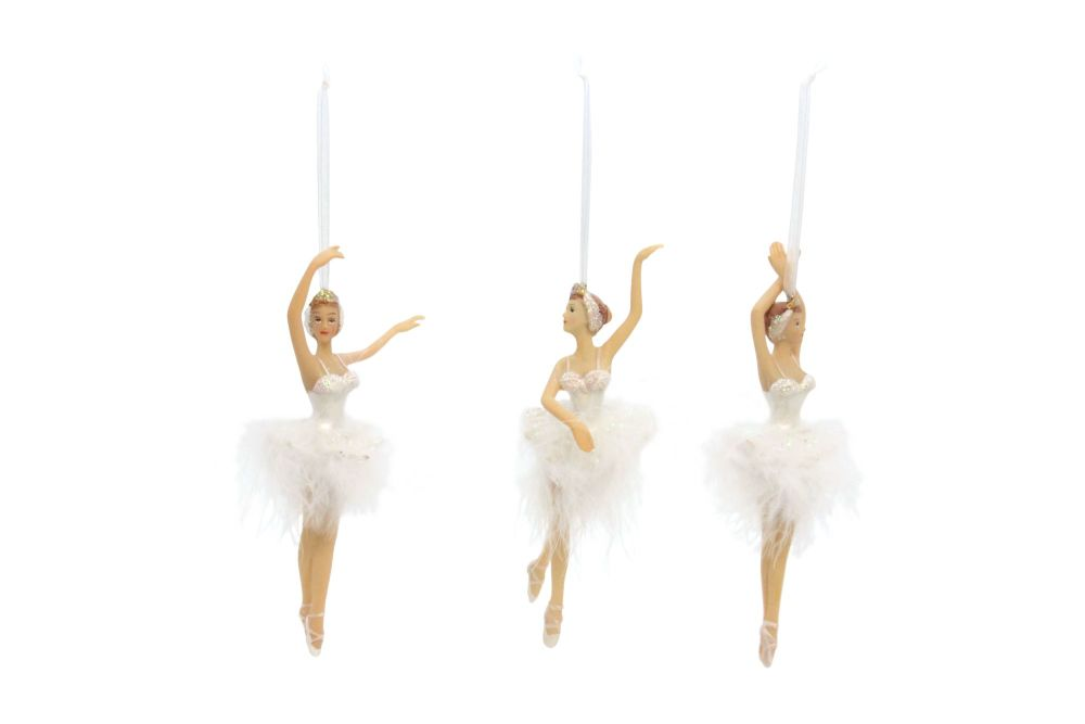Swan Lake Resin Ballerina Decoration - 3 Assorted