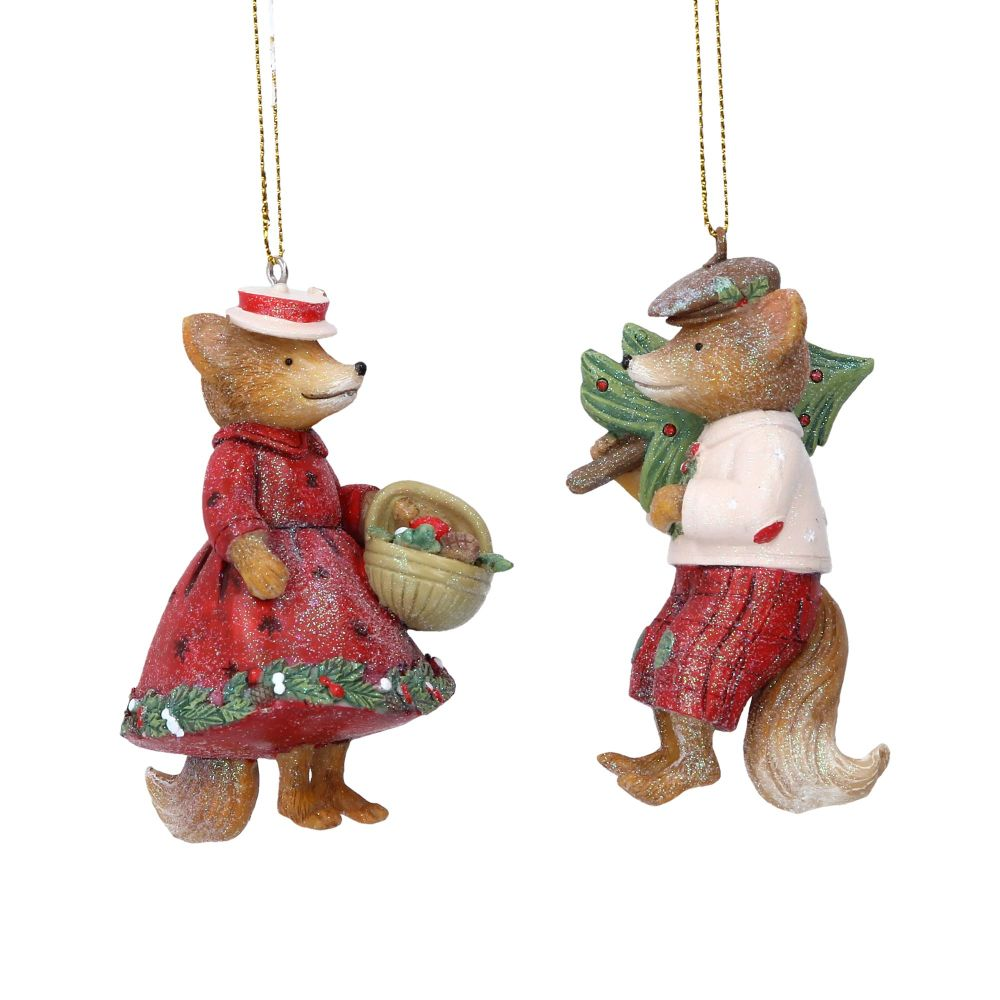 Gisela Graham Mr and Mrs Fox Decorations