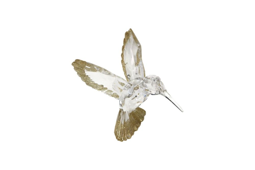 Gisela Graham Gold Glitter Edged Hummingbird Decoration