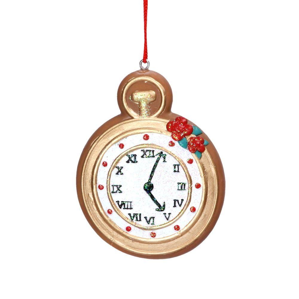 Gisela Graham Gingerbread Pocket Watch Decoration