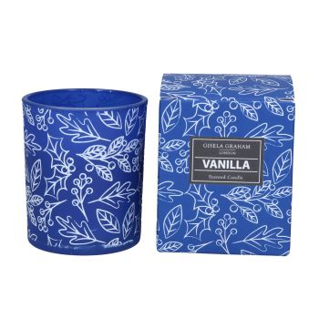 Gisela Graham Holly Print Vanilla Scented Candle