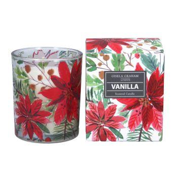Gisela Graham Poinsetta Boxed Candle - Vanilla