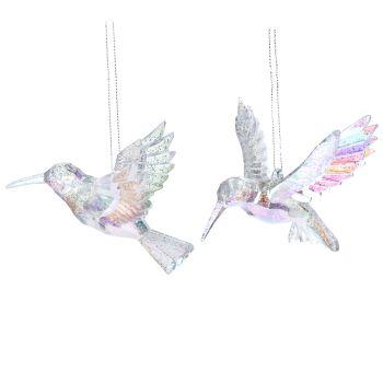 Gisela Graham Clear Acrylic Hummingbird Decoration
