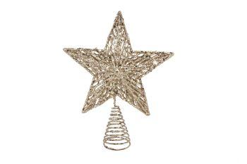 Gisela Graham Gold Glitter Moulded Tree Top Star