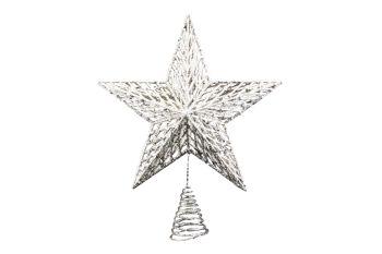 Gisela Graham Gold Glitter Moulded Star - Large
