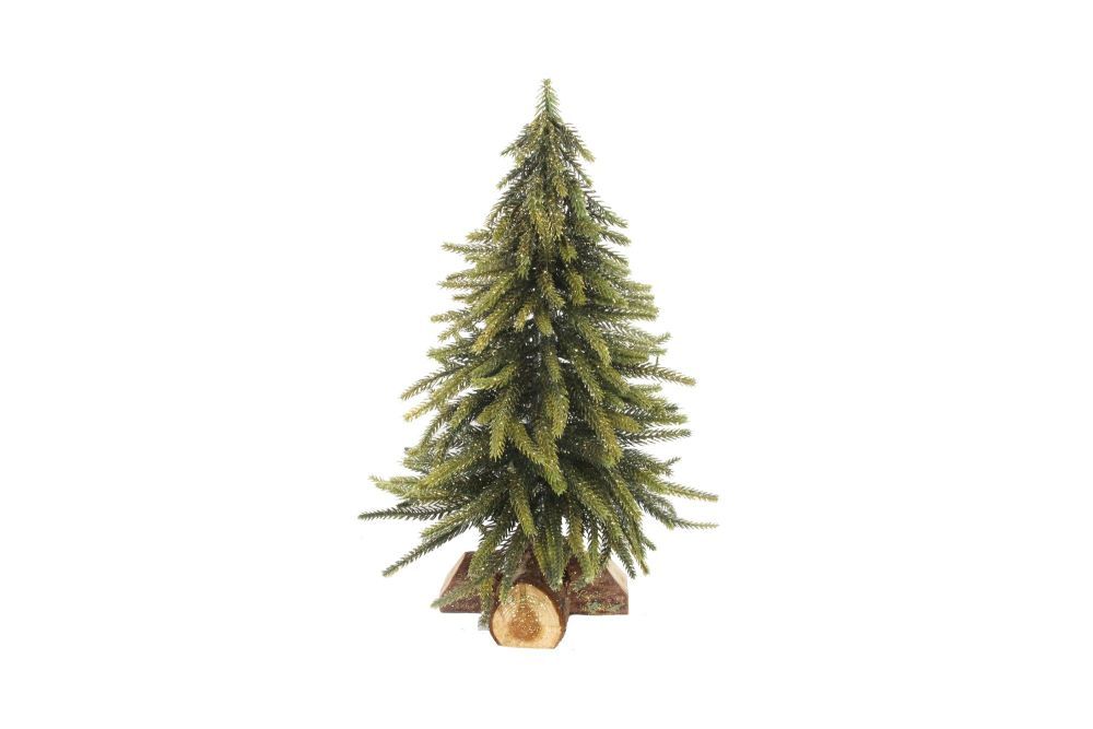 Gisela Graham Glitter Fir on Log Ornament
