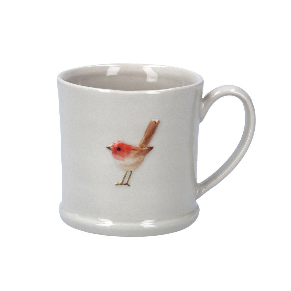 Gisela Graham Ceramic Mini Mug with Robin