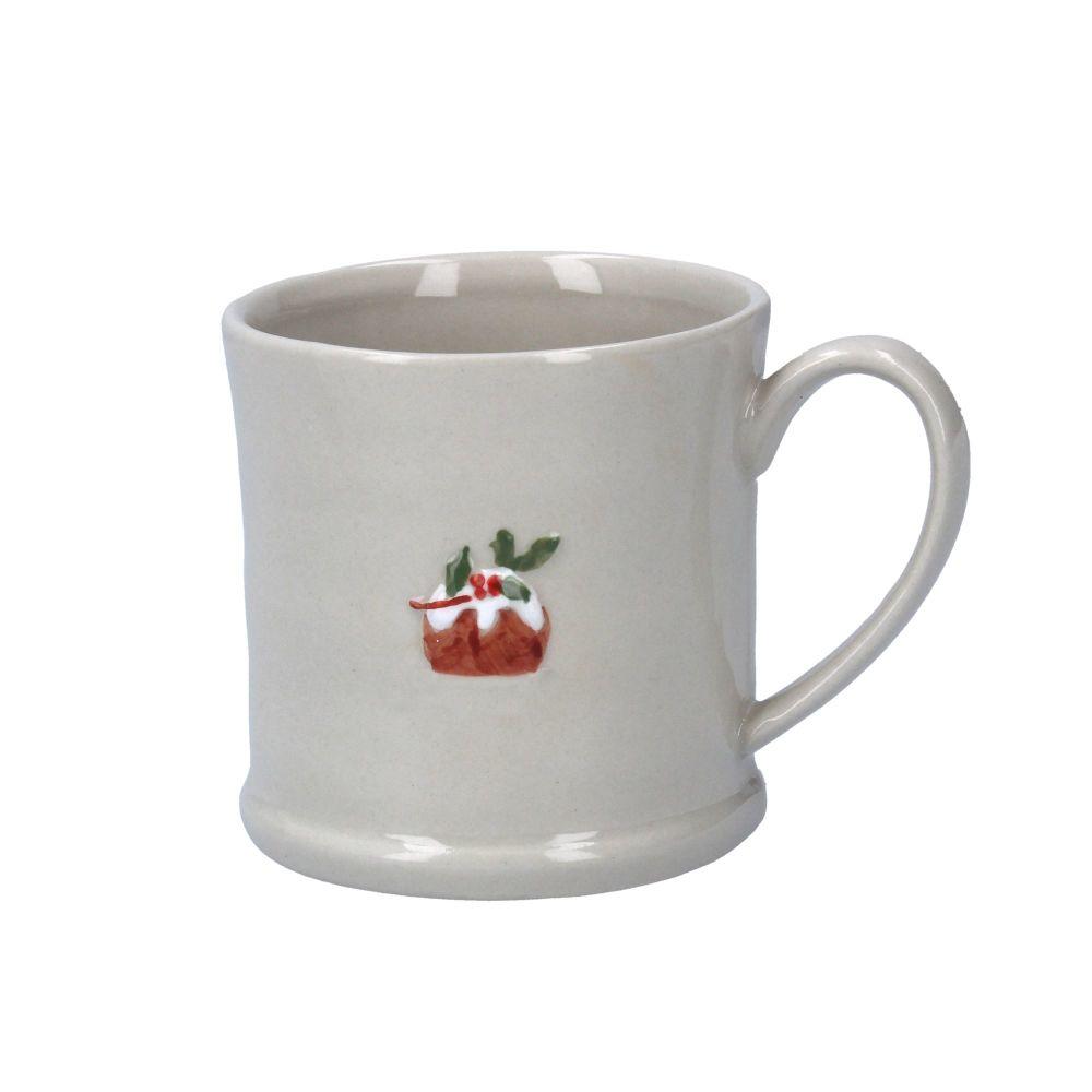 Gisela Graham Ceramic Mini Mug with Pudding Design