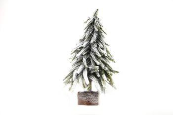 Gisela Graham Snowy Fir on Log Ornament