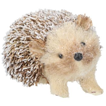 Gisela Graham Snowy Bristle Hedgehog Ornament - Small