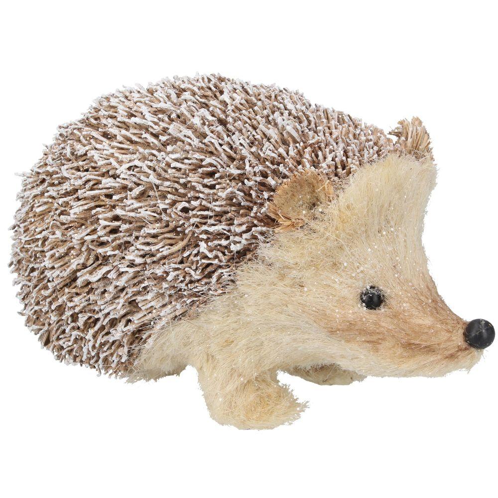 Gisela Graham Snowy Bristle Hedgehog Ornament - Large
