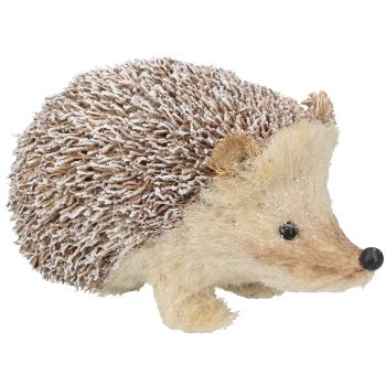 Gisela Graham Snowy Bristle Hedgehog Ornament - Large