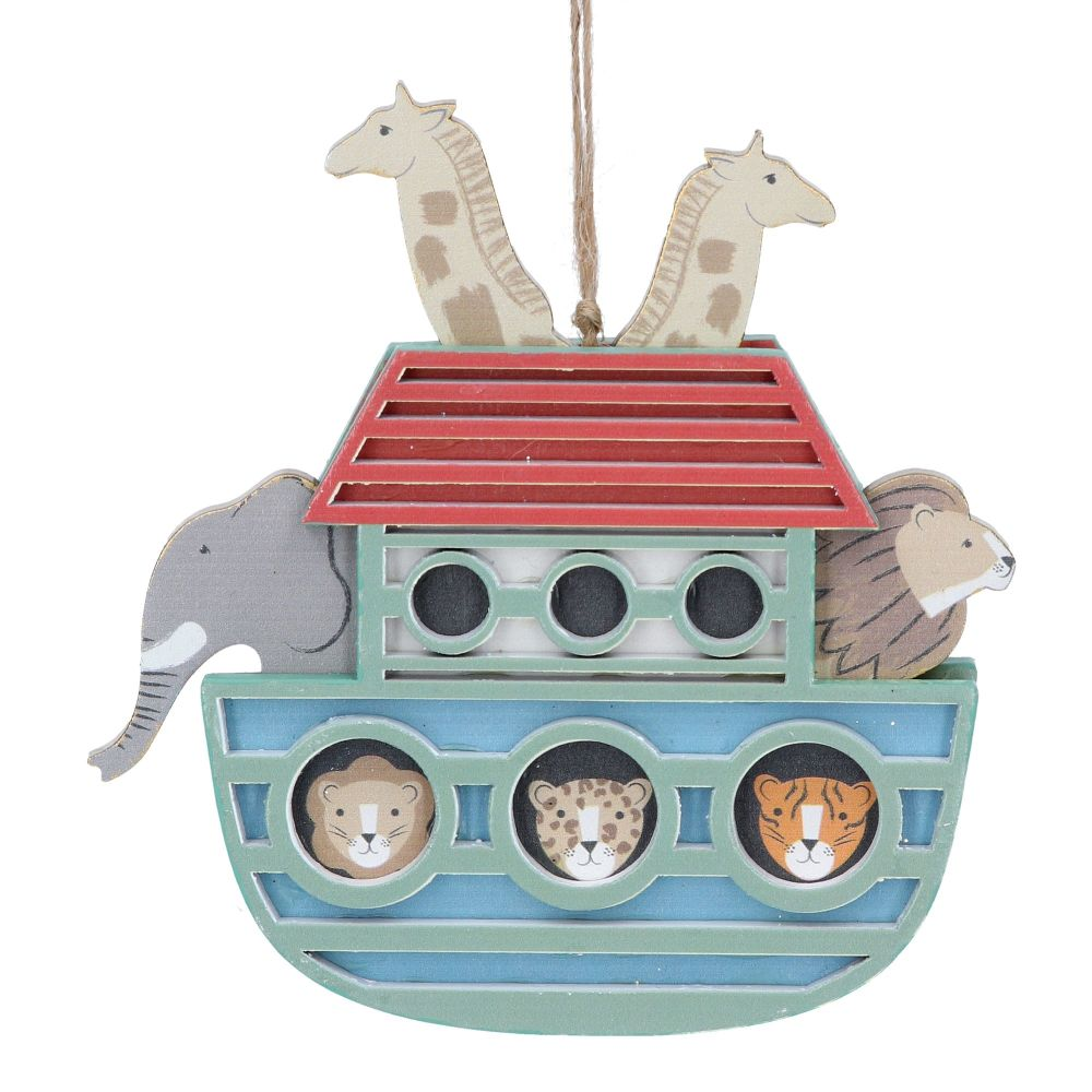 Gisela Graham Wooden Ark Decoration