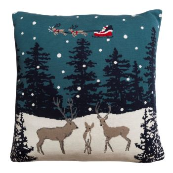 Sophie Allport 'Home for Chrsitmas' Knitted Statement Cushion